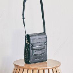Croc mini sugar bag (black)