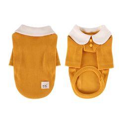 [T.삼각골지카라티셔츠]triangle golgi collar T Yellow