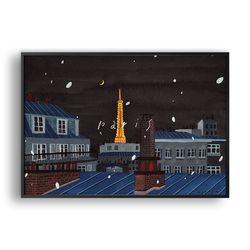 눈 오는 밤 Paris 2