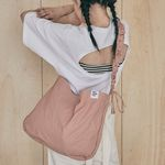 Shirring Hobo bag (pink)
