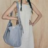Shirring Hobo bag (blue)