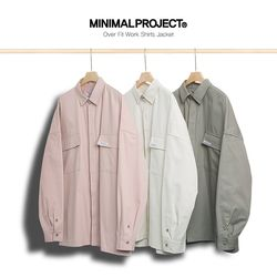 미니멀프로젝트 오버핏 헤비 워크셔츠 자켓 IJK19ZB802  3color