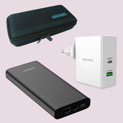 위키오 CRB007 26800mAh 60W CRB006 PD충전기 45W 케이스세트