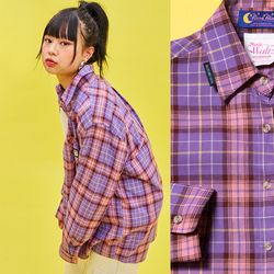 19SP Check shirt (PURPLE)