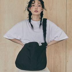 Shirring Hoba bag (black)