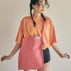 Rope shoulder eco bag (pink)