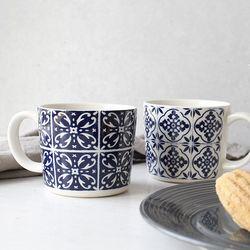 레온 도자기 머그 컵 - 2type
