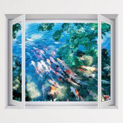 iy783-복이들어오는풍수잉어창문그림액자(중형)