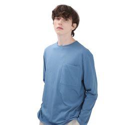 포윗 롱슬리브 티셔츠(빈티지블루)