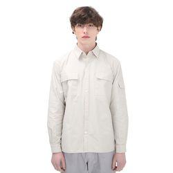 포윗 프론트 포켓 셔츠(아이보리)