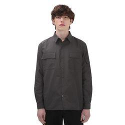 포윗 프론트 포켓 셔츠(차콜)