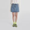 clean a-line denim mini skirt (2colors)