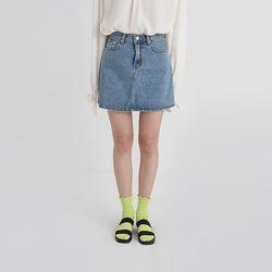clean a-line denim mini skirt (2colors)