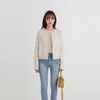 thin corduroy round cardigan (2colors)