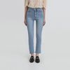high waist slim straight jeans