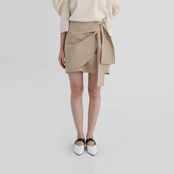 lap detail cotton mini skirt (2colors)