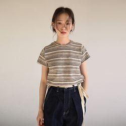 colorful stripe weave top (2colors)