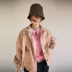 bottom string collar jumper (pink)