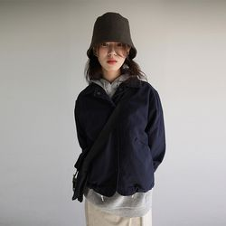 bottom string collar jumper (navy)