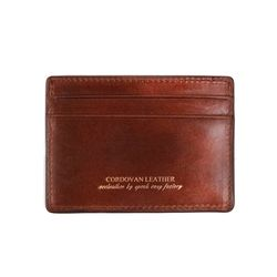 211X CARD WALLET- RIGID CORDOVAN