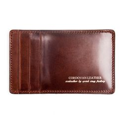212 Y CARD WALLET- RIGID CORDOVAN