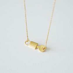[925실버] 골드 자물쇠 목걸이 lock necklace