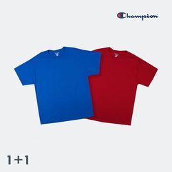 [1+1(선택가능)/무료배송] [champion][컬러] 챔피온T425 무지 반팔티