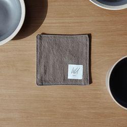 더블유서울 베이직 컵받침 브라운