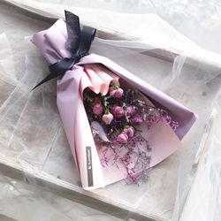 자나장미 드라이플라워 꽃다발