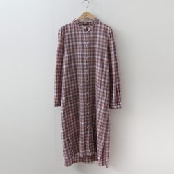 Frill Check Shirts Dress