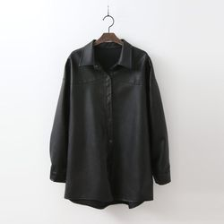 Faux Leather Shirts