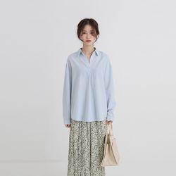 log v-neck thin shirt (4colors)