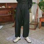 wide pintuck slacks (3 color) - UNISEX
