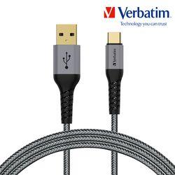 버바팀 케이블 케블라 USB A to C 200cm 그레이