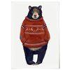 중형 패브릭 포스터 F233 곰 동물 그림 아이방 천 액자 흑곰