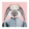 중형 패브릭 포스터 S059 아이방 그림 천 액자 동물 친구 토끼
