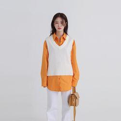and v-neck vest (4colors)