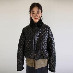 corduroy collar quilting jumper