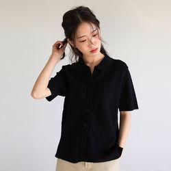 soft half-sleeve collar knit (2colors)