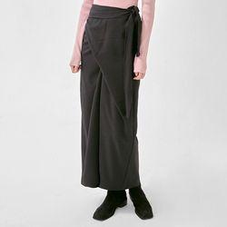weekly twist wrap long skirt