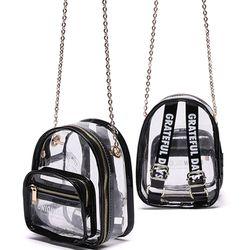 UNION MINI CLEAR BAG - BLACK