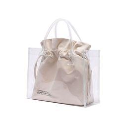 [파우치 ] UNIONOBJET CLEAR BAG - IVORY