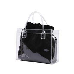 [파우치 ] UNIONOBJET CLEAR BAG - BLACK