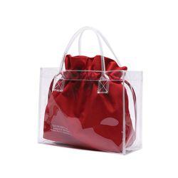 [파우치 ] UNIONOBJET CLEAR BAG - RED