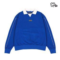 슈퍼레이티브 - CIRCLE LOGO PIPING SWEAT SHIRT - blue