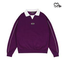 슈퍼레이티브 - CIRCLE LOGO PIPING SWEAT SHIRT - purple