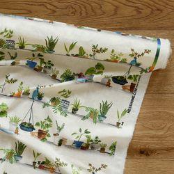 [Fabric] 플랜트 팟 패턴 린넨 Plant Pots Linen