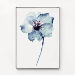 메탈 꽃 식물 포스터 인테리어 그림 액자 어 플라워 [대형]