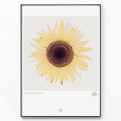 메탈 꽃 식물 인테리어 그림 카페 액자 해바라기 ver2 [대형]