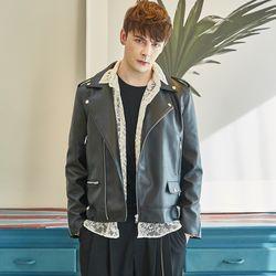 남성 가죽 라이더 자켓 봄자켓 레더 남녀공용 시밀러룩 커플자켓